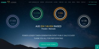 power ledger blockchain australia