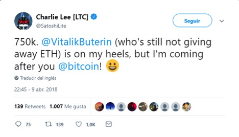 charlie lee - Litecoin price prediction: Litecoin outperforms - Sun Sept 30