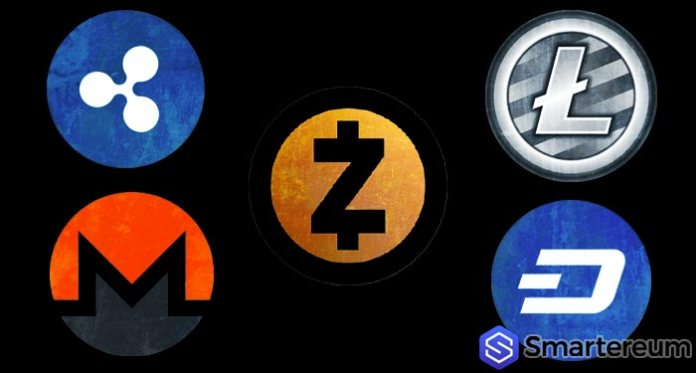 cryptocurrency litecoin dash zcash