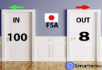 Japan's FSA says about 100 cryptocurrency operators seek entry while 8 want out