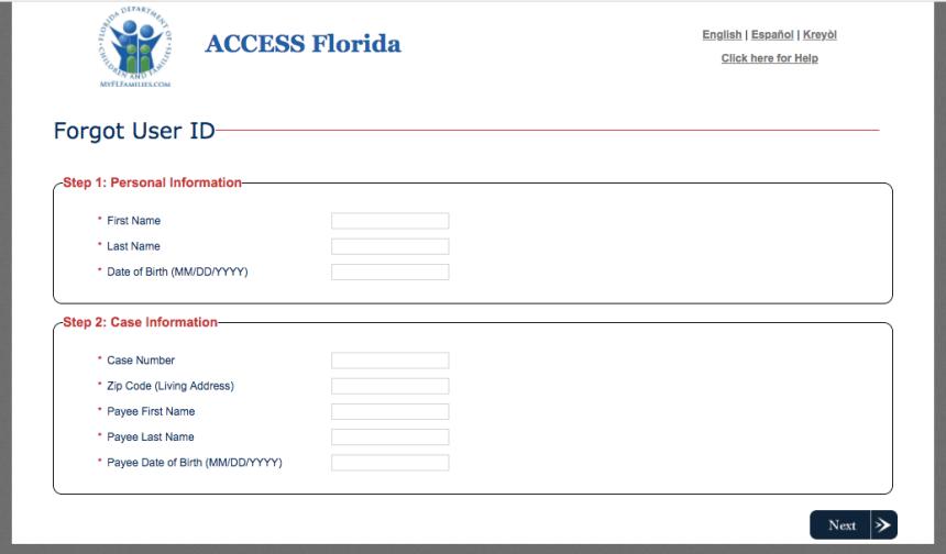 """How to Retrieve MyACCESS Florida User ID"""