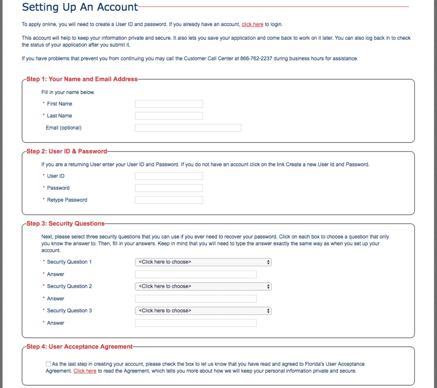 """""""how to Create myaccessflorida Account and apply"""""""