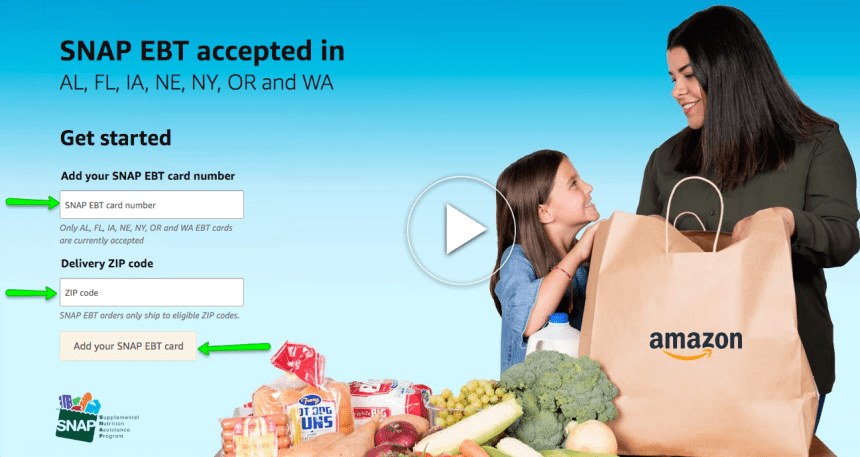 """How to Use Florida EBT Card online on Amazon"""