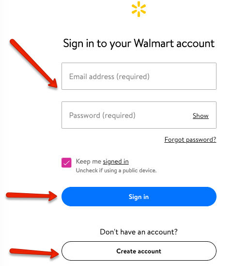 """sign in to buy Walmart groceries online with Florida EBT Card"""