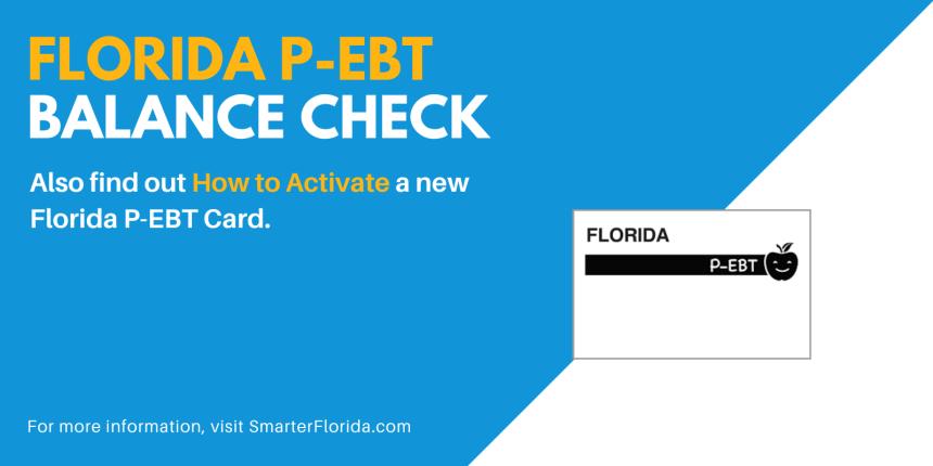 """Check the balance on your Florida P-EBT Card"""