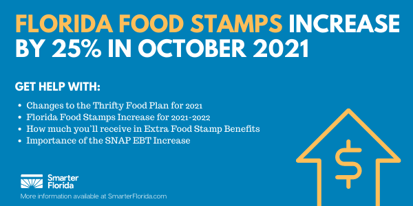 Florida Food Stamps Increase in October 2021