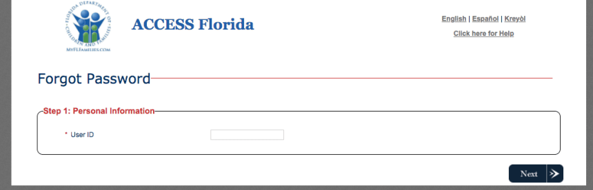 """""""How to Reset MyACCESS Florida Password"""""""