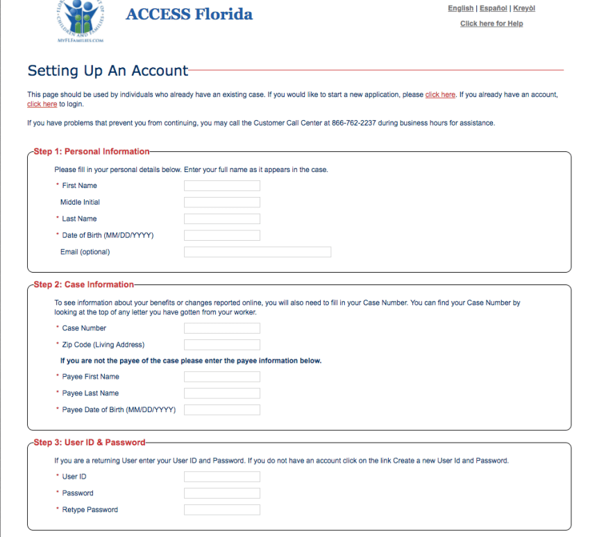 """how to Create myaccessflorida Account"""