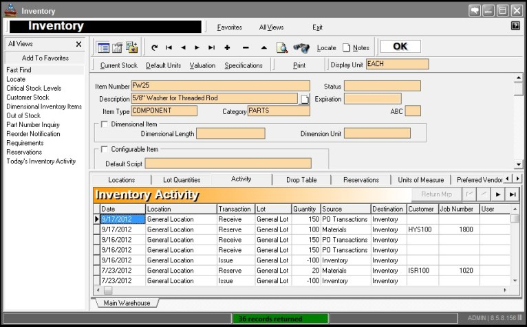 inventory management software for inventory control