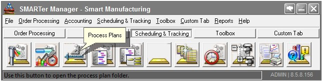 production & process planning menu