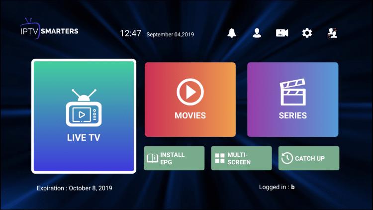 IPTV SMARTERS Features Install EPG