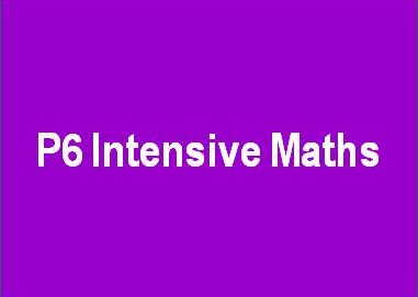 P6 Intensive Maths