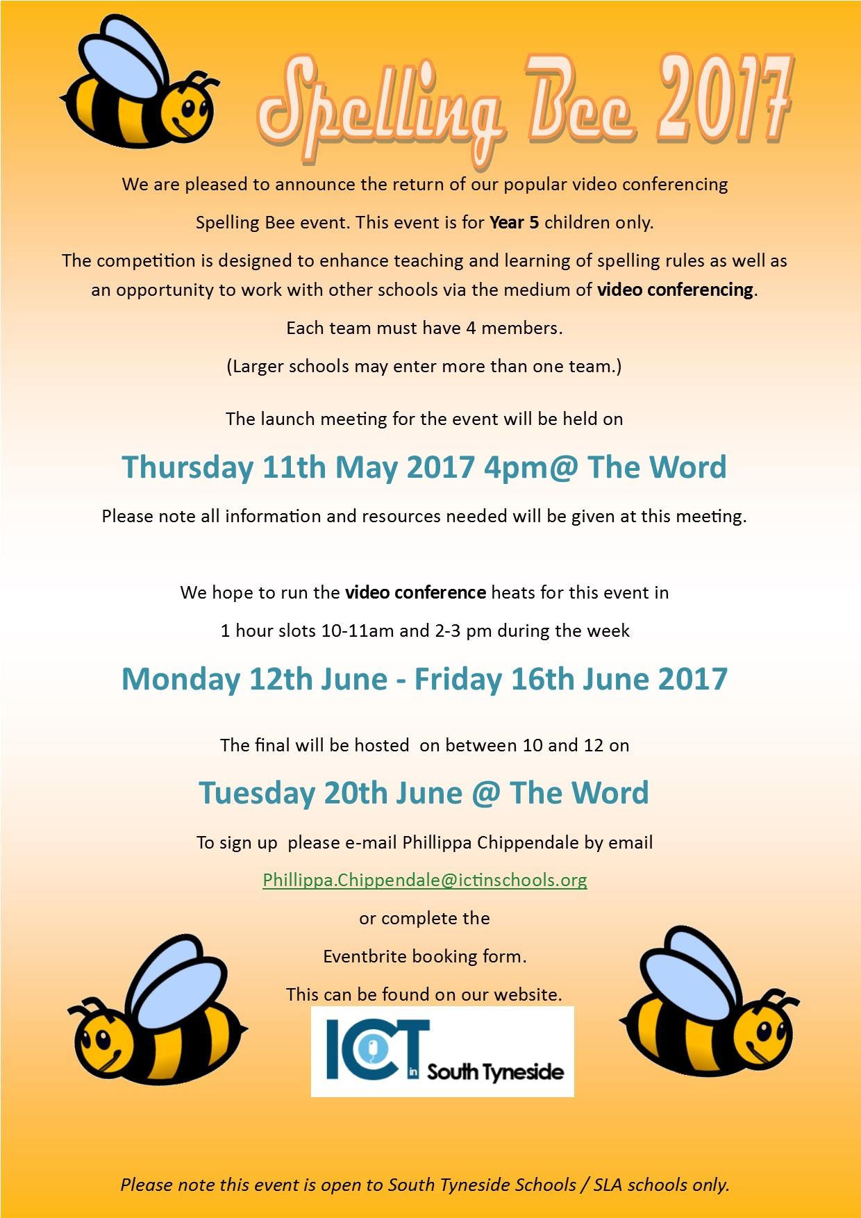 Spelling Bee Launch 2017 for website