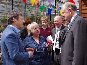 Alan Titchmarsh MBE opening our farm shop in April 2012