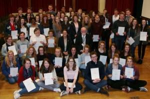 Mr Dore with successful Bronze and Silver Duke of Edinburgh Award achievers.