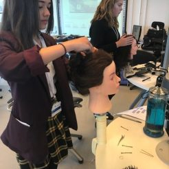 Hairdressing taster at Crawley College
