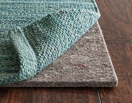"RUGPADUSA, Anchor Grip, 8'x10', 1/4"" Thick, Felt + Rubber, Premium Non-Slip Rug Pad 
