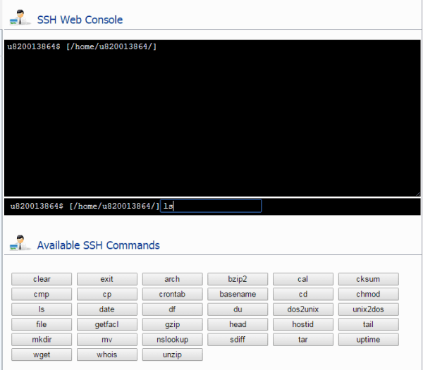 SSH Web Console