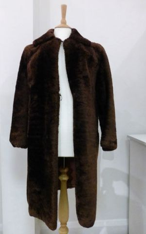 Mother's 'beaver Lamb' Coat