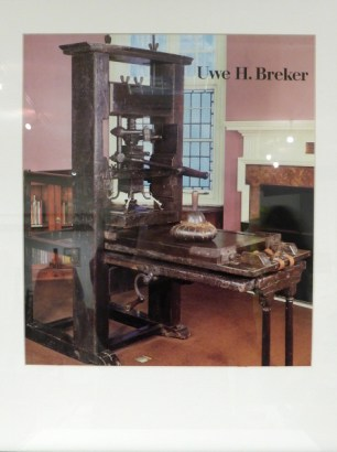 Gutenberg Press And Rockwell Letterpress