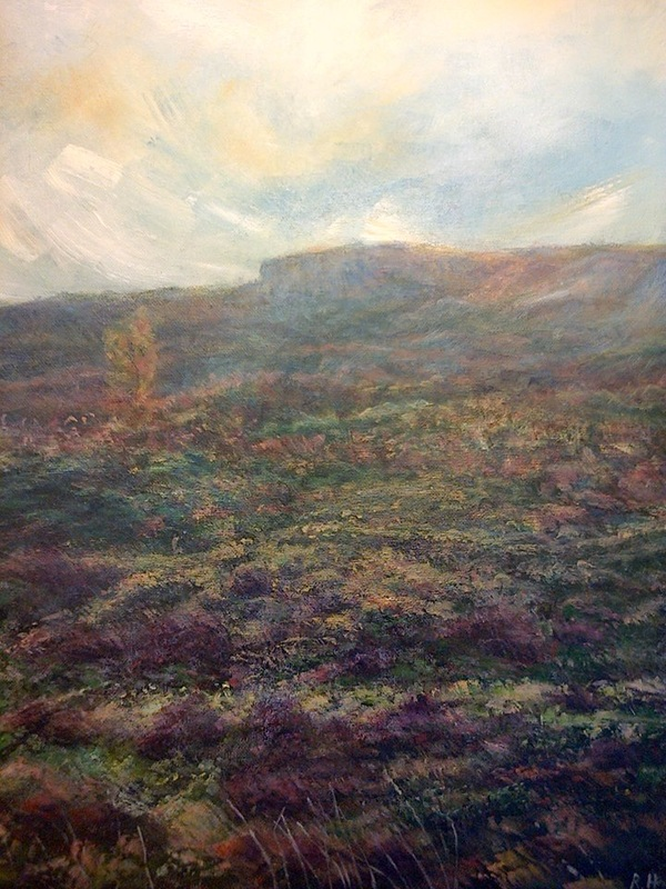 Heather On Ilkley Moor By Rachel Hinds
