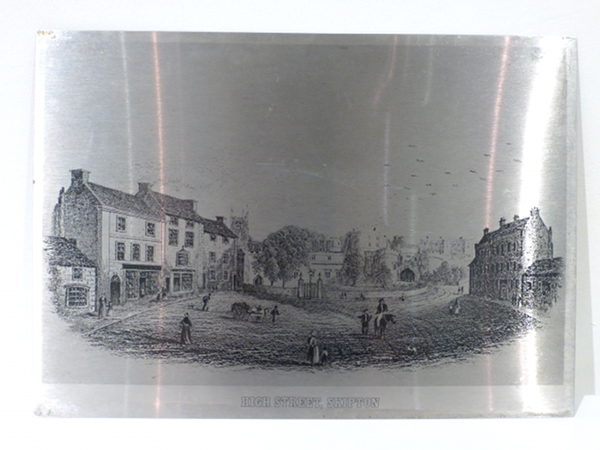 Stainless Steel Print Of HIgh St. In Skipton