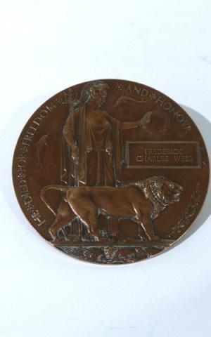 Frederick Charles Webb's Death Penny