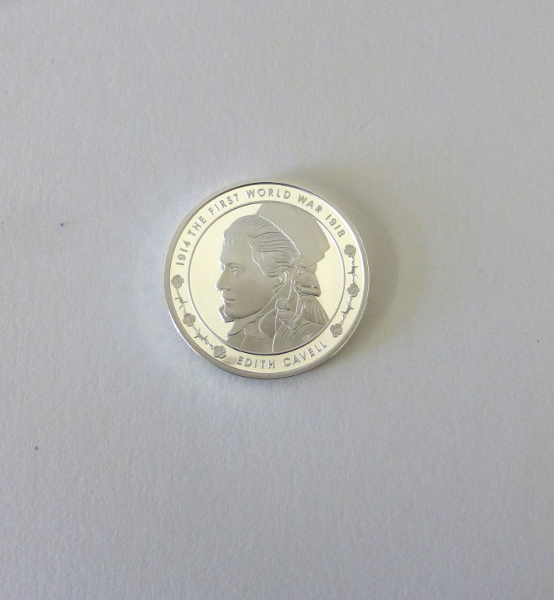 2015 UK Edith Cavell £5 Silver Proof Coin