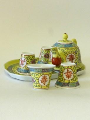 Yellow Chinese Tea Service