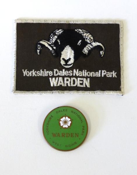Yorkshire Dales National Park Warden Fabric & Metal Badges