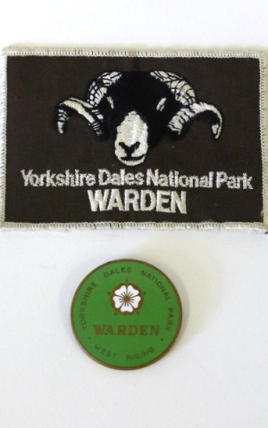 Yorkshire Dales National Park Warden Fabric & Metal Badges