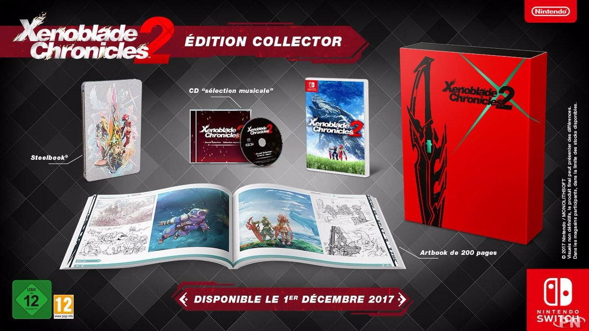 XENOBLADE CHRONICLES 2 EDITION COLLECTOR SWITCH