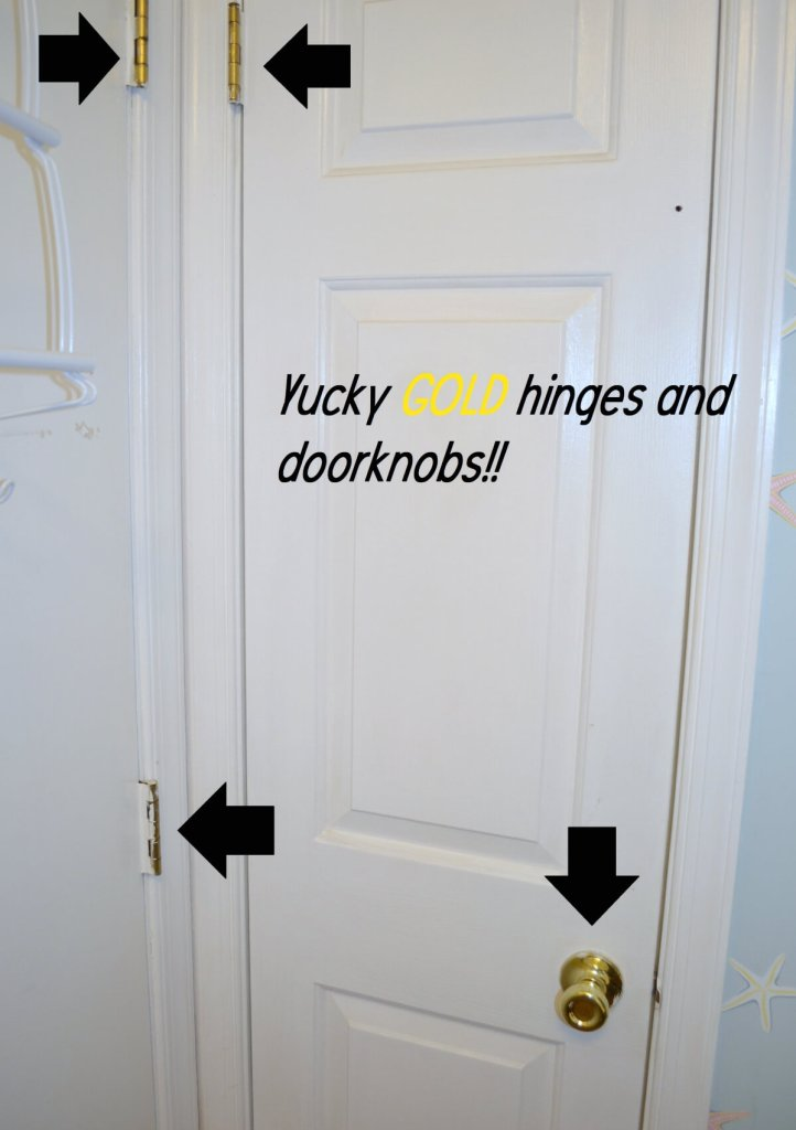 Replace knobs hinges and paint doors