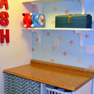 Laundry Room 5: Wall Shelves