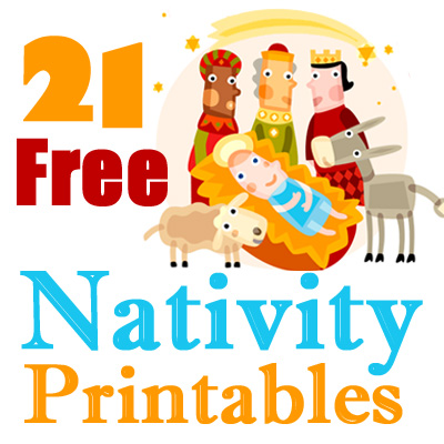 photo regarding Free Printable Nativity Scene named 21 No cost Nativity Printables