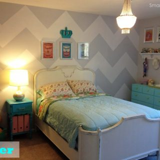 Smart Girls DIY - Chevron Wall - after