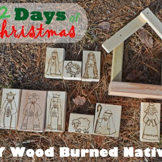 Wood Burned Nativity Blocks