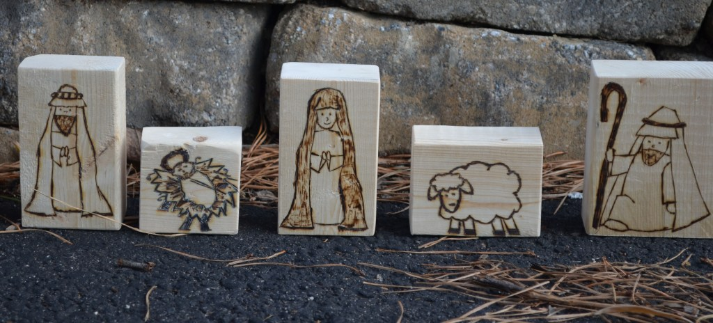 Pyrography Nativity