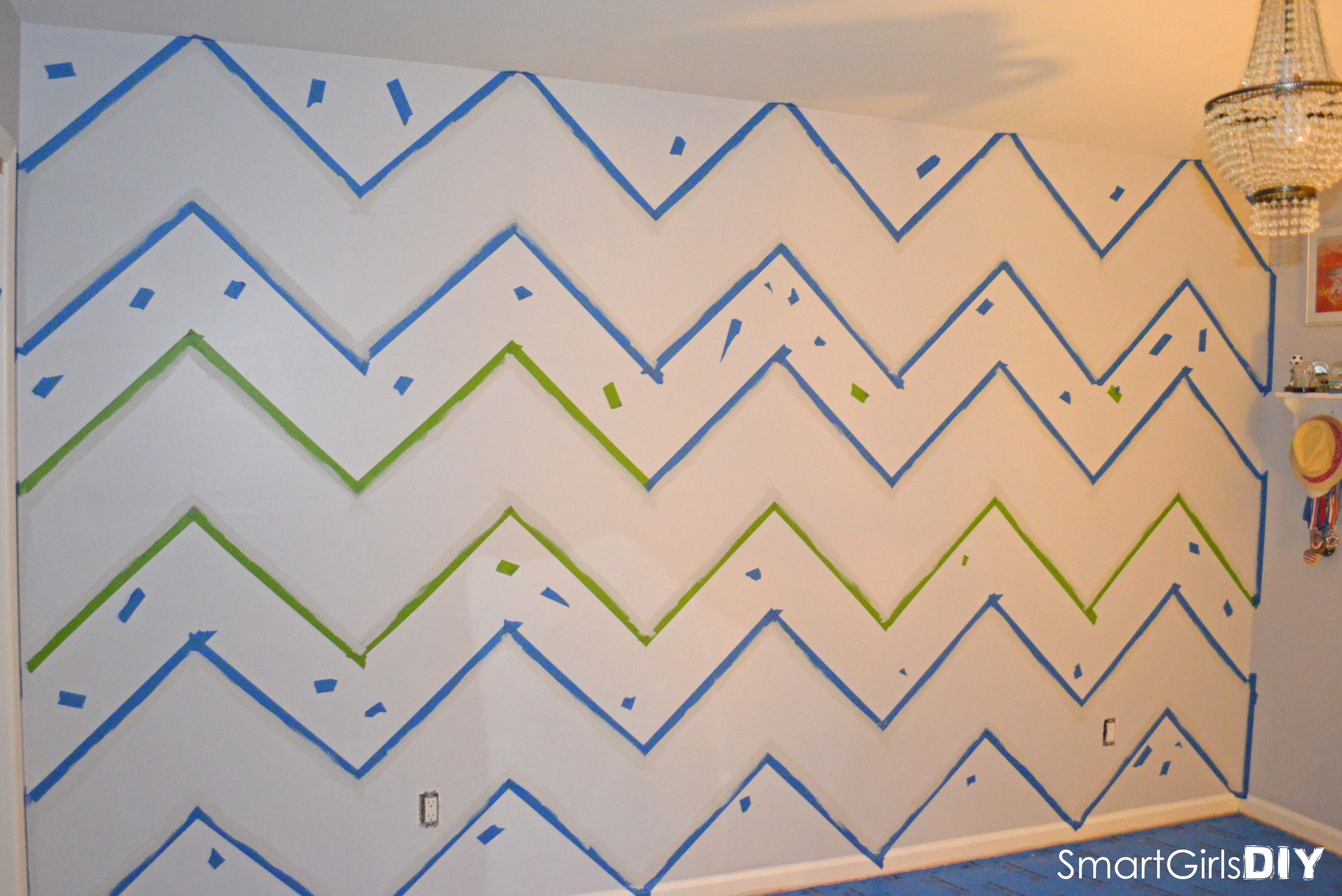 Wall Patterns With Tape How To Paint A Chevron Wall