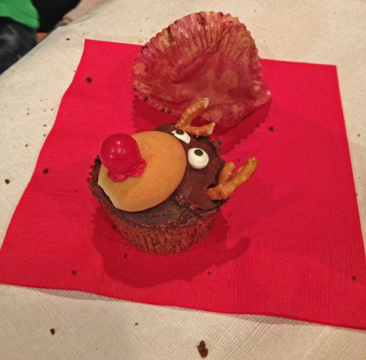 Yummy Rudolph Cupcake