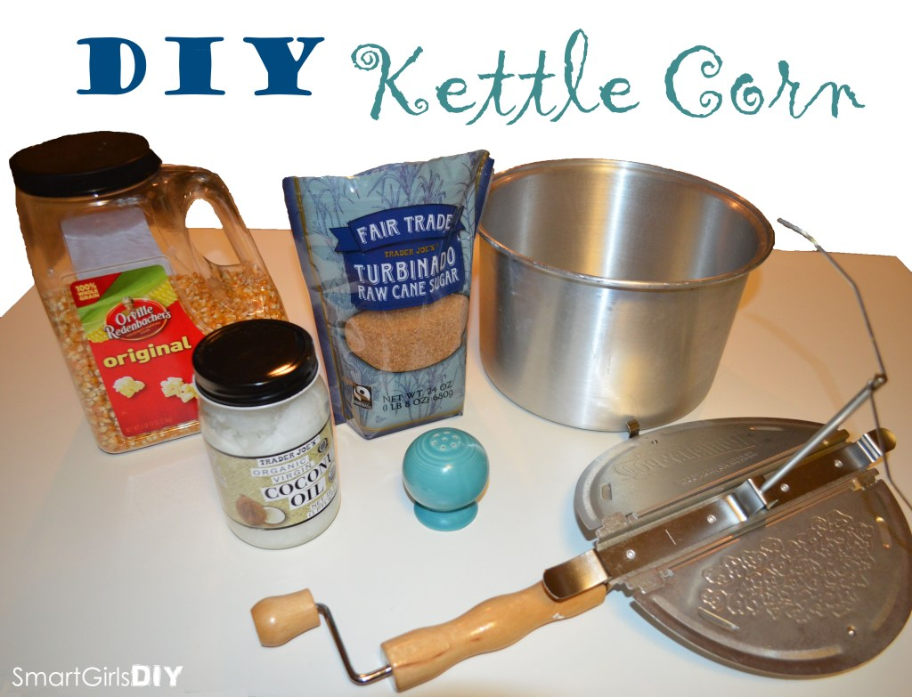 Easy and healthy DIY kettle corn popcorn