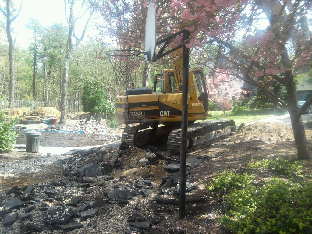 Tearing out driveway