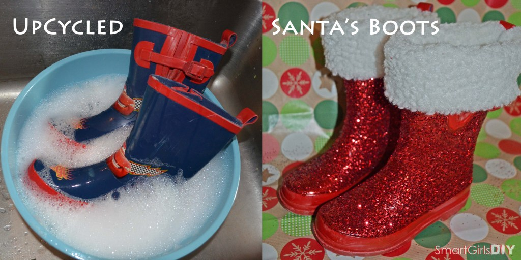 Upcycled Santa's Boots DIY Christmas Decoration