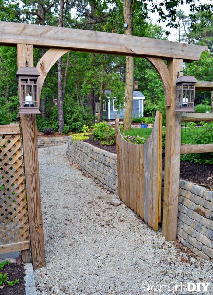 Diy garden arbor for Diy fence gate designs