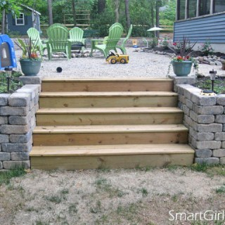 Building Retaining Wall Stairs