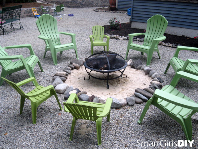 First fire pit area