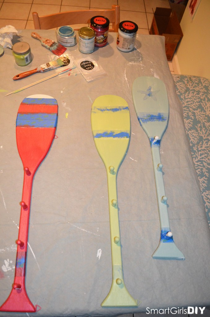Second layer of paint on paddles