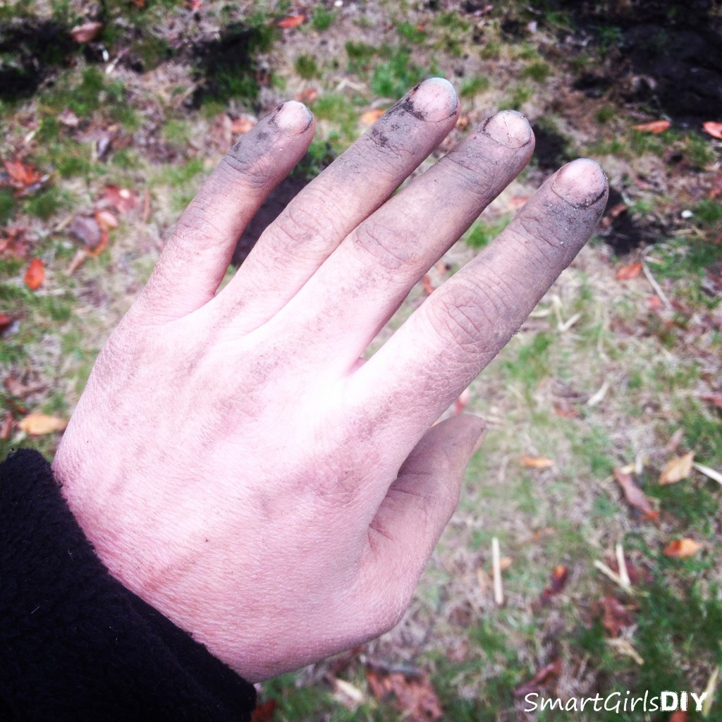 I always forget to put on gloves