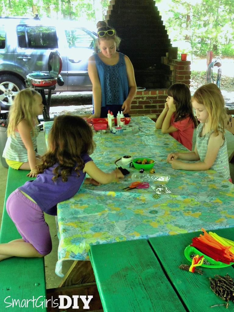 craft-time-at-girl-scout-camp-making-swaps-with-our-troop