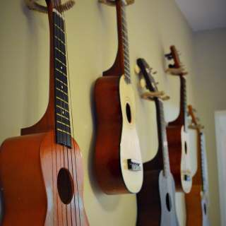 How to hang ukuleles on a wall